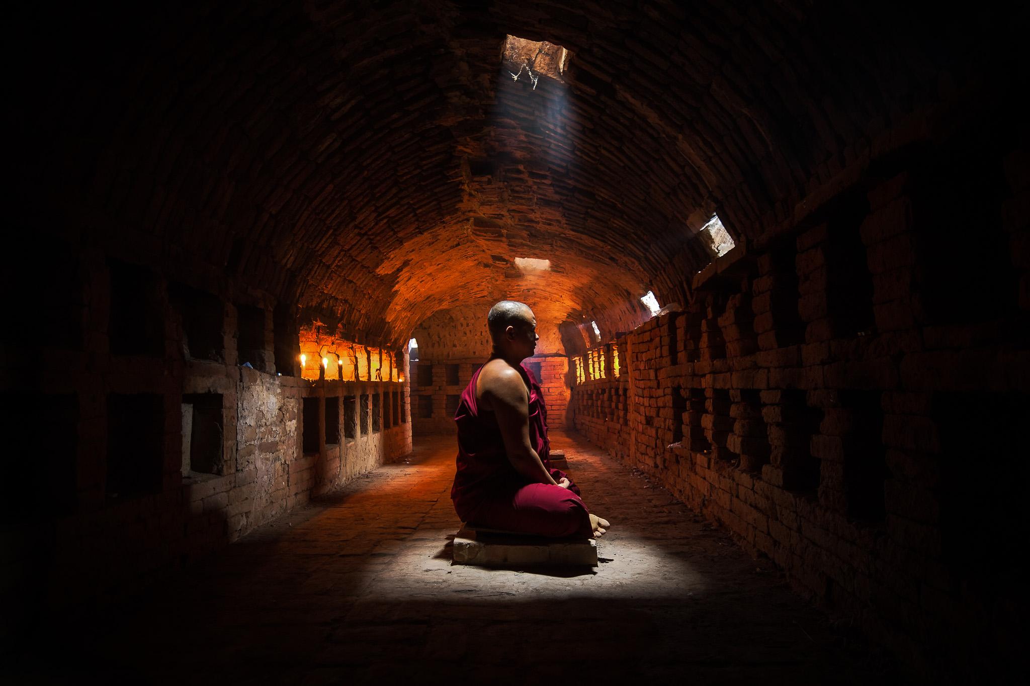 Meditating Master Monk
